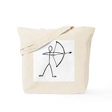 Stick figure archer Tote Bag
