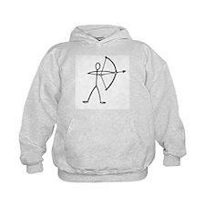 Stick figure archer Hoodie