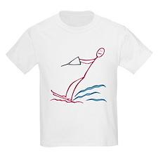 Stick figure water skiing T-Shirt