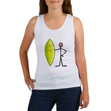 Stick figure surfer Women's Tank Top