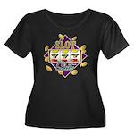 Slot Slut Women's Plus Size Scoop Neck Dark T-Shir