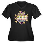 Slot Slut Women's Plus Size V-Neck Dark T-Shirt