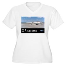 X-3 Stiletto Jet Aircraft T-Shirt