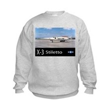 X-3 Stiletto Jet Aircraft Sweatshirt
