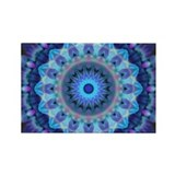 Blue Mandala Rectangle Magnet
