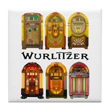 1940s Wurlitzer Greatest Tile Coaster