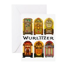 1940s Wurlitzer Greatest Greeting Cards (6 Count)