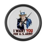 Uncle Sam Large Wall Clock