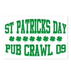 ST PATRICK'S DAY PUB CRAWL Postcards (Package of 8