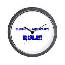 Clerical Assistants Rule! Wall Clock