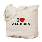 I Love Algebra Tote Bag