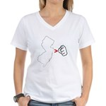 NJ > U Women's V-Neck T-Shirt