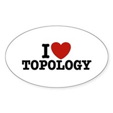 I Love Topology Oval Stickers