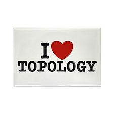 I Love Topology Rectangle Magnet