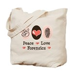 Peace Love Forensics Tote Bag