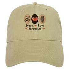 Peace Love Forensics Baseball Cap