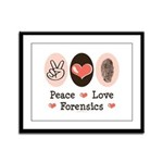 Peace Love Forensics Framed Panel Print