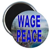 "Unique Waging peace 2.25"" Magnet (100 pack)"
