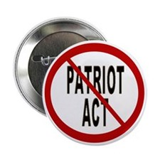 "No Patriot Act 2.25"" Button (10 pack)"