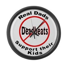 REAL DADS Large Wall Clock