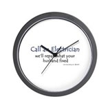 Call an electrician Wall Clock