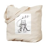 Catoons harmonica cat Tote Bag