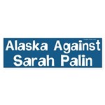Alaska Against Sarah Palin bumper sticker