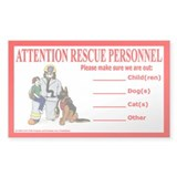 Pet & Child Rescue Alert Rectangle Decal