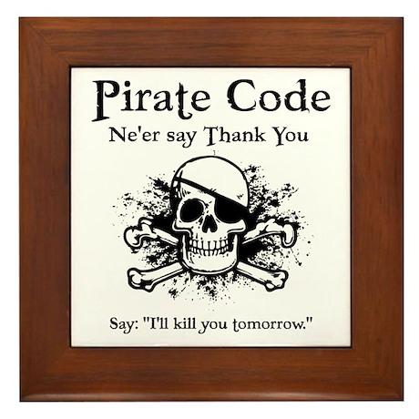 Biker gifts gt biker living room gt pirate thank you framed tile