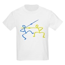 Stick figure fencing T-Shirt