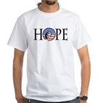 Obama Patriotic Hope White T-Shirt