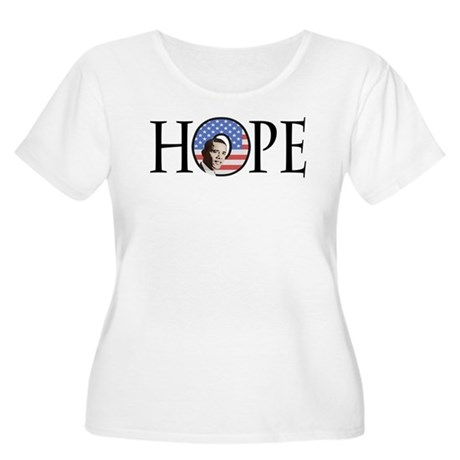 Obama Patriotic Hope Women's Plus Size Scoop Neck