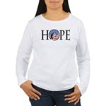 Obama Patriotic Hope Women's Long Sleeve T-Shirt
