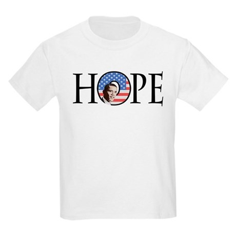 Obama Patriotic Hope Kids Light T-Shirt