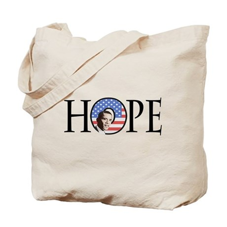Obama Patriotic Hope Tote Bag