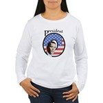 President O Patriotic Women's Long Sleeve T-Shirt