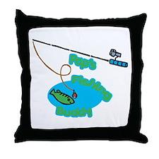 Pap's Fishing Buddy Throw Pillow