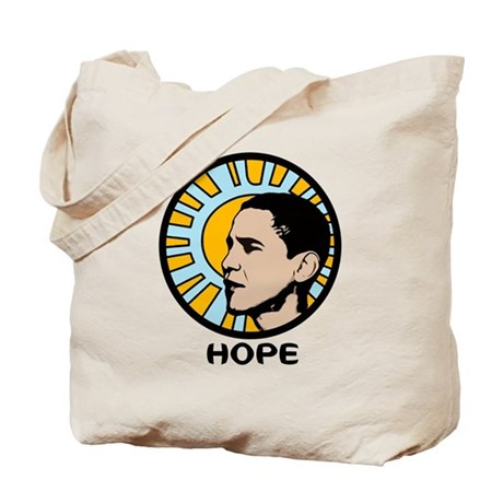 Obama Sun Hope Tote Bag