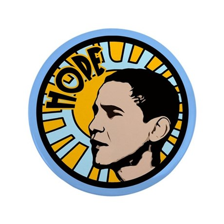 "Obama Sun Hope 3.5"" Button (100 pack)"