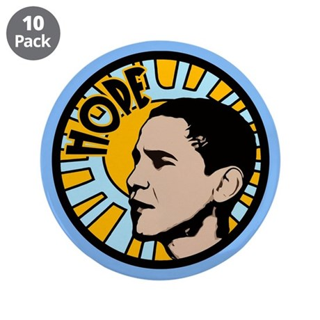 "Obama Sun Hope 3.5"" Button (10 pack)"