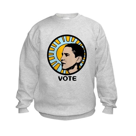 Obama Sun Vote Kids Sweatshirt