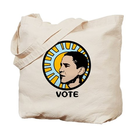Obama Sun Vote Tote Bag