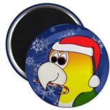 Candy Cane White Bellied Caique Christmas Magnet