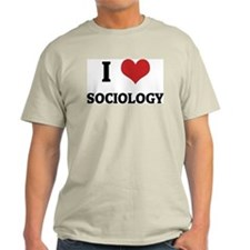 I Love Sociology Ash Grey T-Shirt