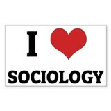 I Love Sociology Rectangle Decal