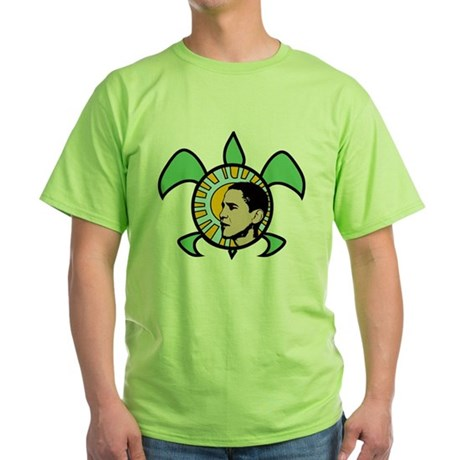 Obama Sun Sea Turtle Green T-Shirt