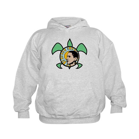 Obama Sun Sea Turtle Kids Hoodie
