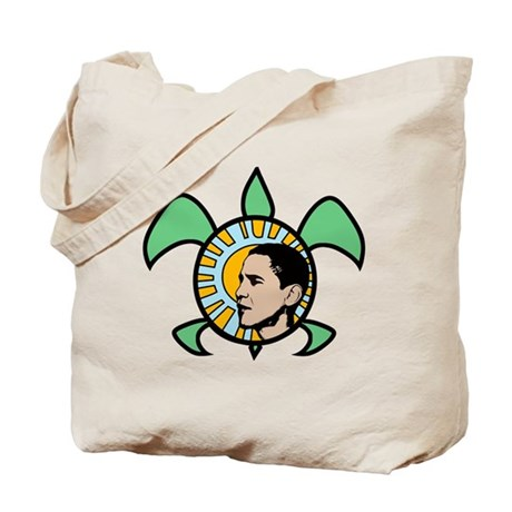 Obama Sun Sea Turtle Tote Bag