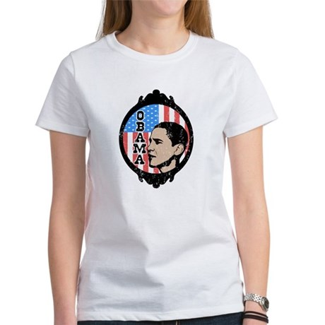Obama Flag Frame (Old Style) Women's T-Shirt