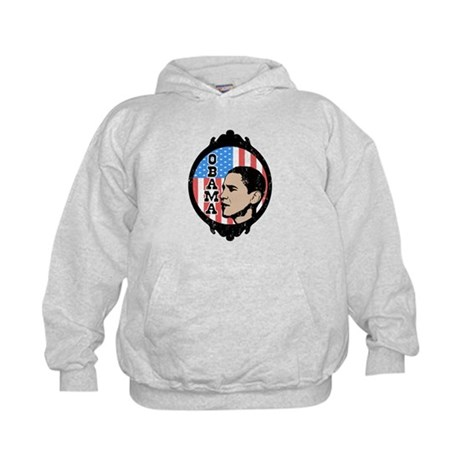 Obama Flag Frame (Old Style) Kids Hoodie
